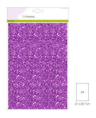 CraftEmotions glitterpapier 0130 Paars