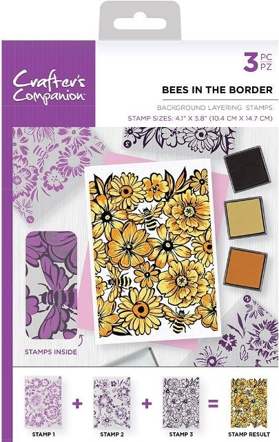 Crafters Companion stempels BKBEE Bees in the bord