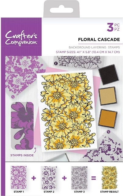 Crafters Companion stempels BKFLO Floral Cascade