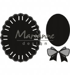 Marianne Design mallen CR1458 Oval Ribbon