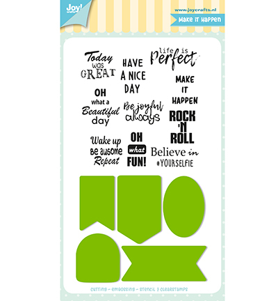 Joy!Crafts mallen en stempels 6004/0037 Labels Tek