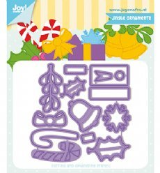 Joy!Crafts mallen 6002/1330 Jingle Ornamenten