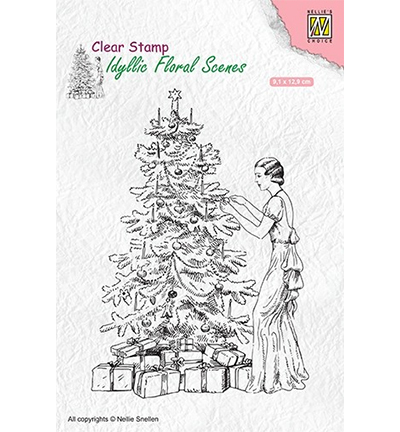 Nellies Choice stempels IFS019 Vintage Christmas