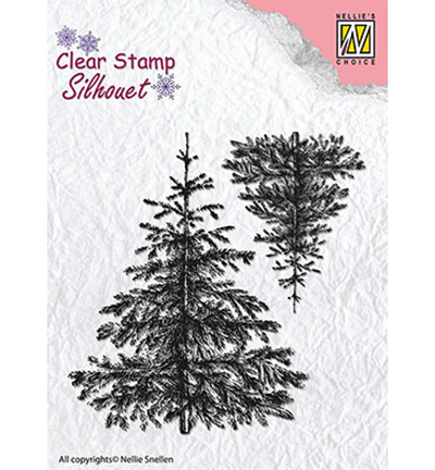 Nellies Choice stempels SIL038 Winter Trees