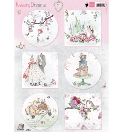 Marianne Design knipvel EWK1266 Wedding Dreams