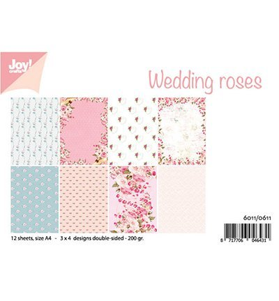 Joy!Crafts 6011/0611 Papierblok Wedding Roses