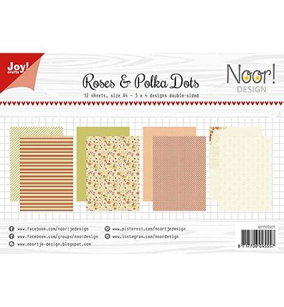 Joy!Crafts 6011/0601 Papierblok Roses Polka Dots