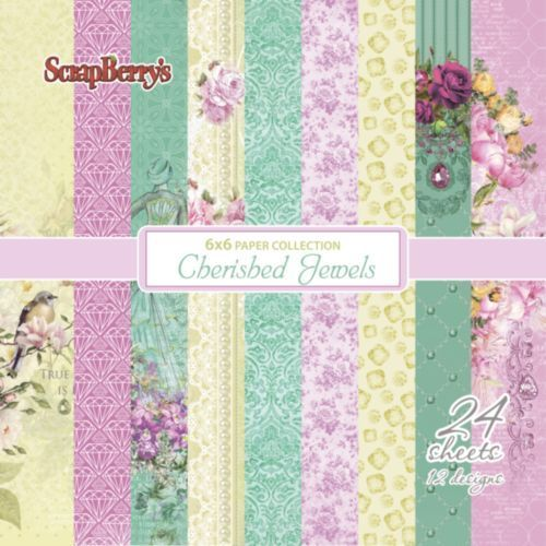 Scrapberrys Paper Pack 208810 Cherished Jewels