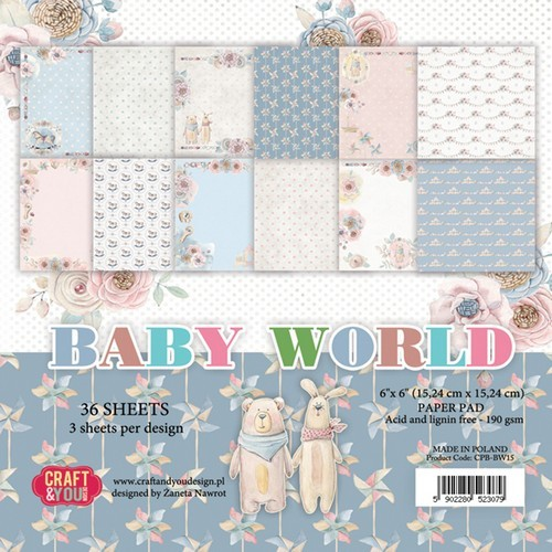Craft&You Paperpad CPB-BW15 Baby World
