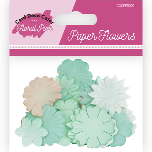 Paper Flowers - Card Deco Color - Floral Pink