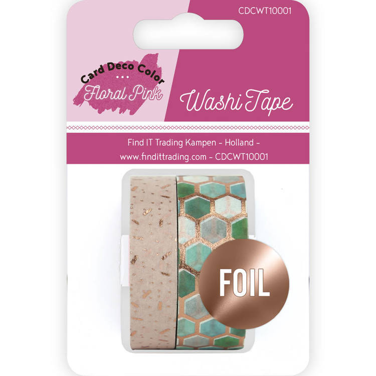 Washi Tape - Yvonne Creations - Floral Pink