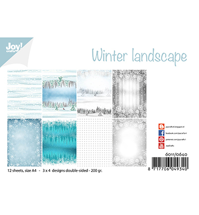 Joy!Crafts Papierset  Winter Landscape