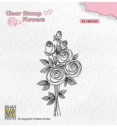 Nellies Choice stempel Bouquet roses-2