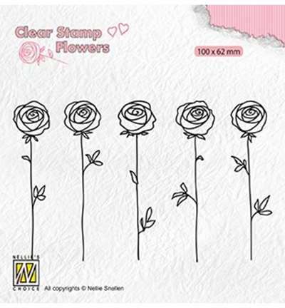 Nellies Choice stempel Roses