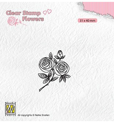 Nellies Choice stempel Rose twig