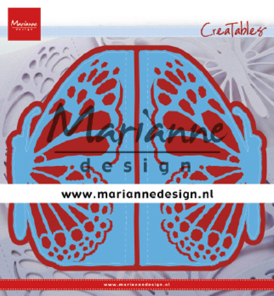 Marianne Design mallen LR0638 Gate folding die Butterfly