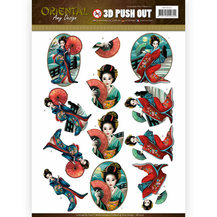 Push Out - Amy Design - Oriental - Geishas