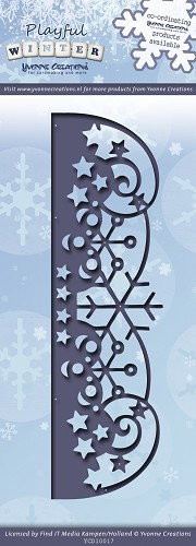 Die - Yvonne Creations - Playful Winter - Snowflakes border