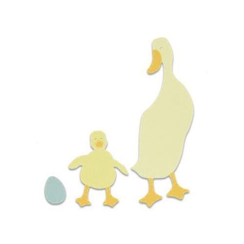 Sizzix Bigz Die - Duck and Duckling 663306 (01-19)