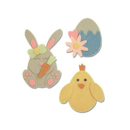 Sizzix Bigz L Die - Bunny Chick and Egg 663492 (01-19)
