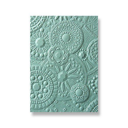 Sizzix 3-D Textured Impressions Embossing Folder Mosaic Gems 663206 Courtney Chilson (01-19)