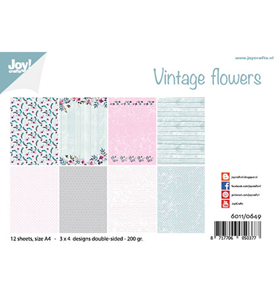 Joy!Crafts Papierset Design Vintage Flowers