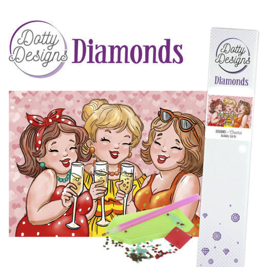 Dotty Designs Diamonds - Bubbly Girls - Cheers