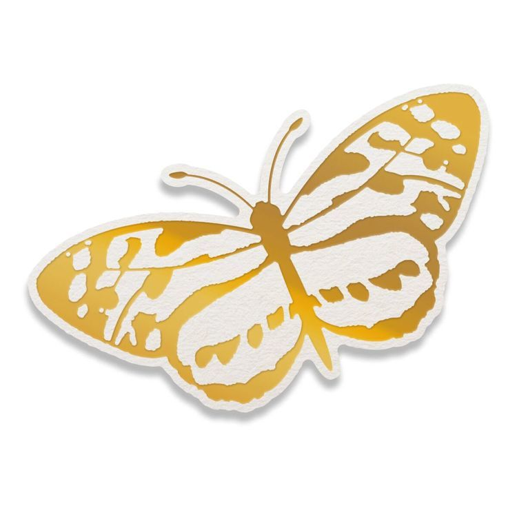Spotted Butterfly Cut, Foil and Emboss Die (1pc)