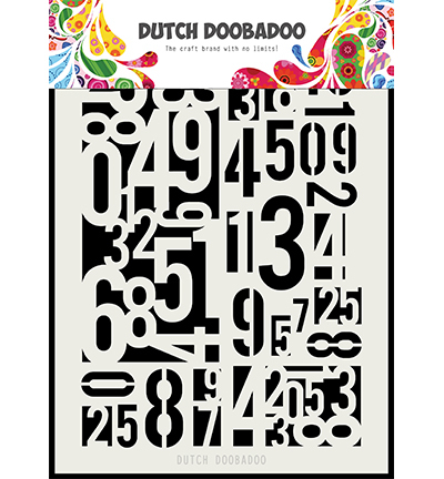 Dutch Doobadoo Mask Art 5146  Numbers A5
