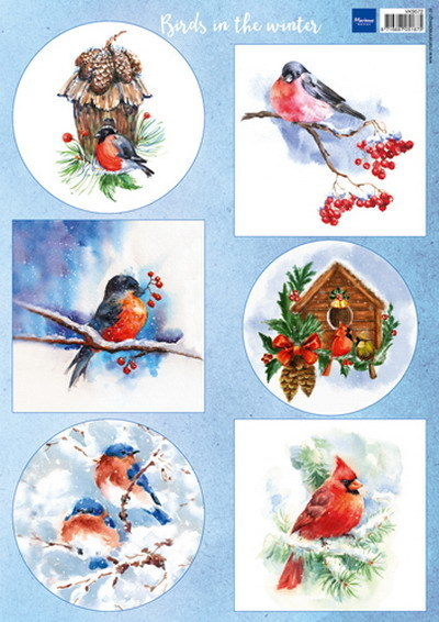 Marianne Design VK9572 knipvel Birds in the Winter