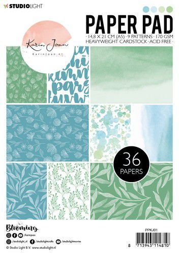 Studio Light Paper pad A5 Karin Joan Blooming Collection nr.01