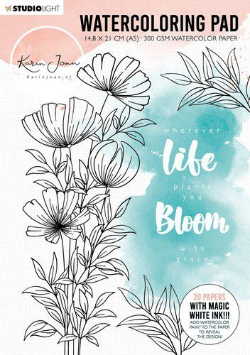 Studio Light Watercoloring Blok Karin Joan Blooming nr.01