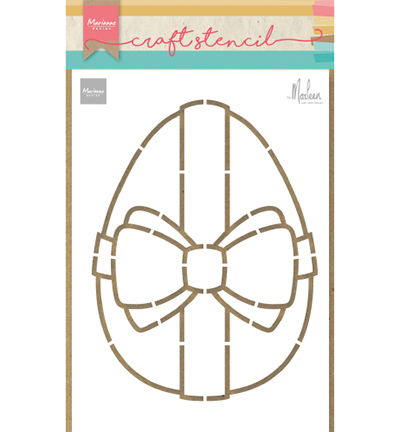 Marianne Design stencil PS8055 Easter egg by Marleen