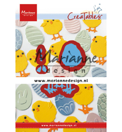 Marianne Design mallen LR0644 Tiny's Easter chick