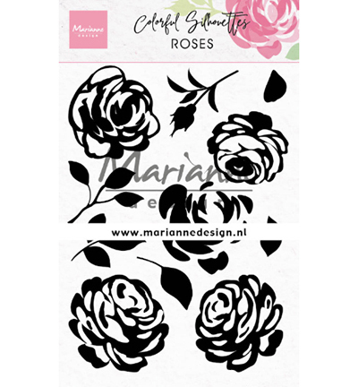 Marianne Design stempels CS1046 Colorful Silhouette - Roses