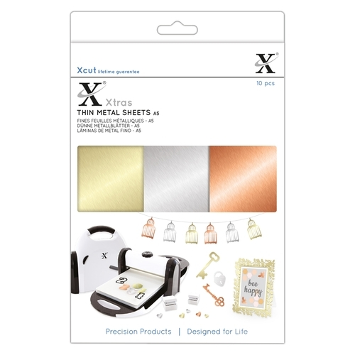 Xcut Xtras' A5 Thin Metal Sheets (10pcs)