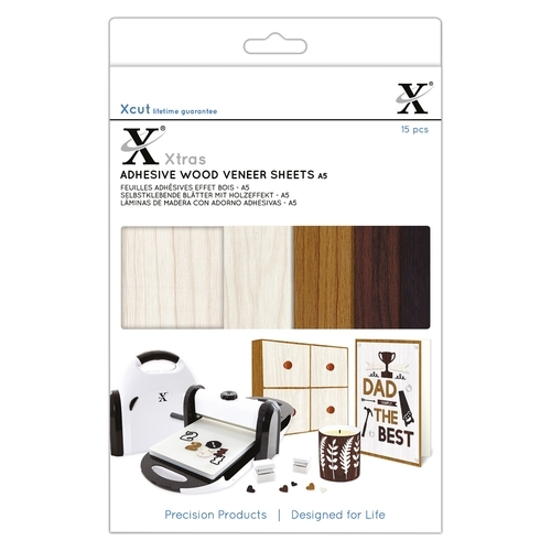 Xcut Xtras' A5 Adhesive Wood Effect Sheets (15pcs)