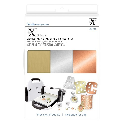Xcut Xtras' A5 Adhesive Metal Effect Sheets (20pcs)