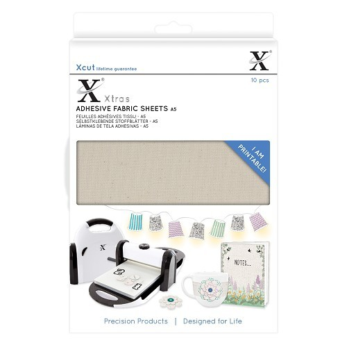 Xcut Xtras' A5 Adhesive Fabric Sheets (10pcs)