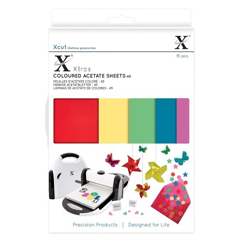 Xcut Xtras' A5 Coloured Acetate Sheets (15pcs)