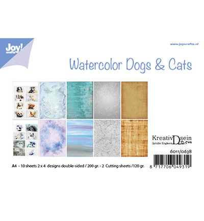 Joy!Crafts papierset Aquarell Dogs & Cats