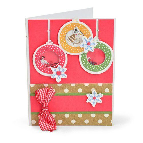 Sizzix Framelits Die Set With Stamp - Hanging Ornaments 663680 Jordan Caderao
