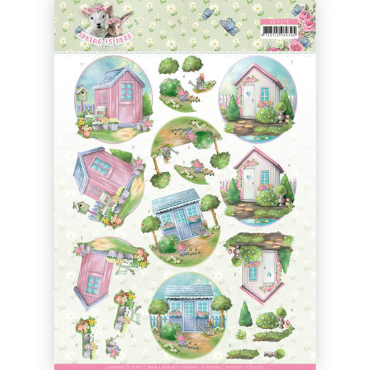 3D Knipvel - Amy Design - Spring is Here - Garden Sheds