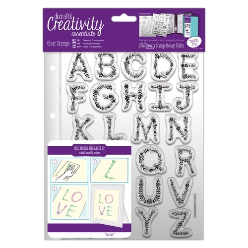 inkl Set Clearstamp A5-Hülle Paisley Background Stempel DCE 907103