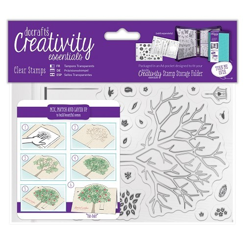 A6 Clear Stamp Set (30pcs) - Build A Tree