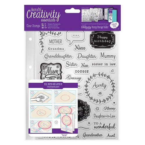 A5 Clear Stamp Set (40pcs) - Female Family