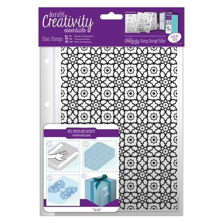 A5 Clear Stamp Set (1pc) - Moroccan Lattice