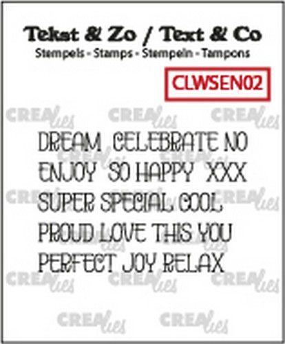 Crealies Clearstamp Text&Co ENG word strips Dream (ENG) CLWSEN02 4mm (10-19)