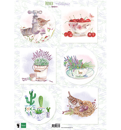 Marianne Design knipvel EWK1272 French antiques lavender