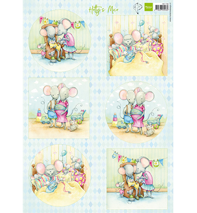 Marianne Design knipvel HK1708 Hetty's mice new born